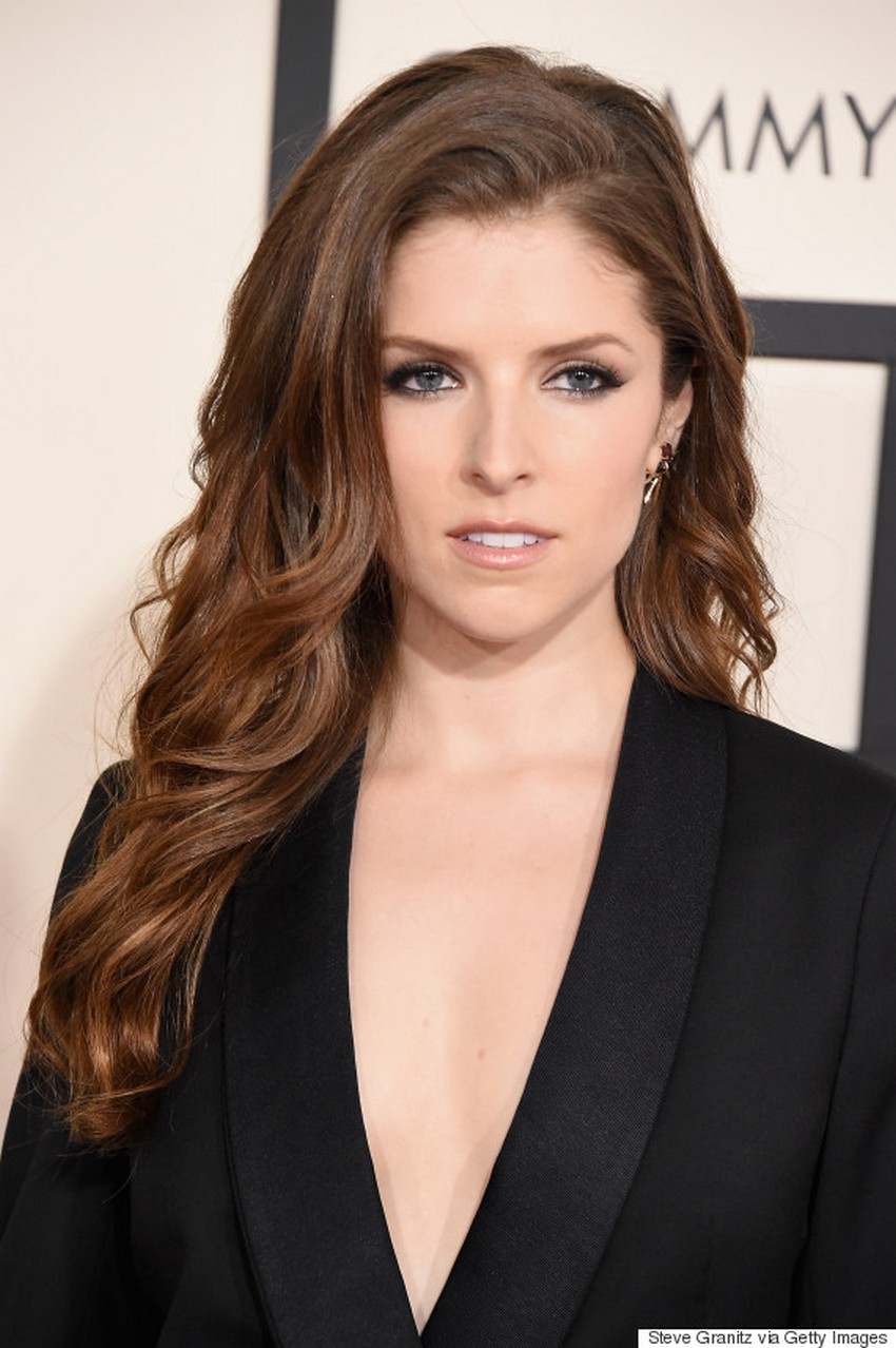 Anna Kendrick | Beauty Trend Alert: Nude Makeup at the 2015 Grammys | Image Source: http://i.huffpost.com/