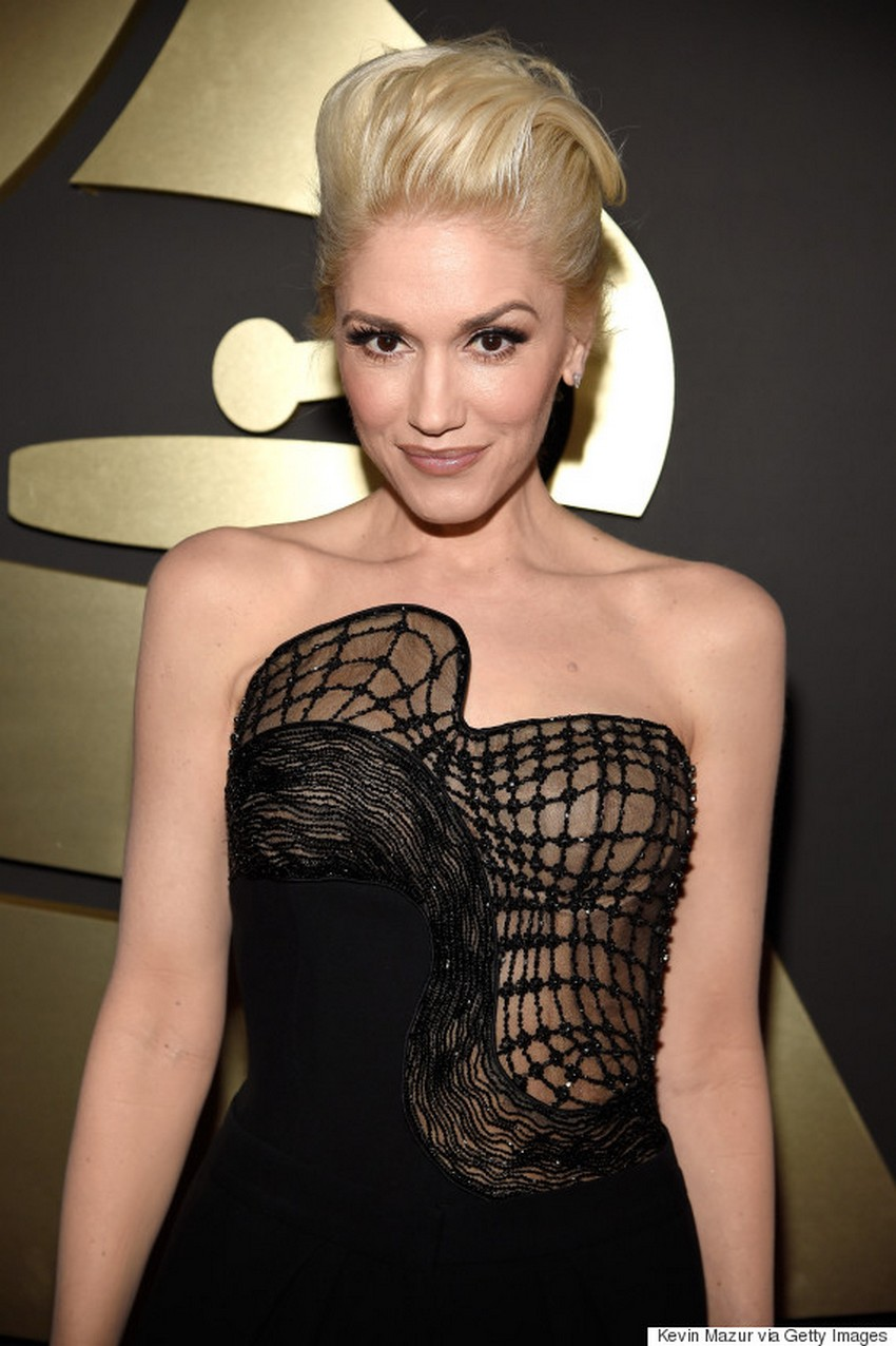 Gwen Stefani | Beauty Trend Alert: Nude Makeup at the 2015 Grammys | Image Source: http://i.huffpost.com/