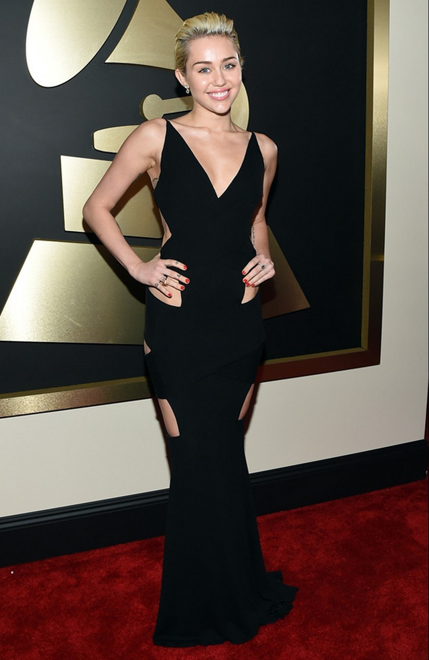 9. Miley Cyrus | Best Dressed Celebrities at the 2015 Grammys | Image Source: http://uk.eonline.com/