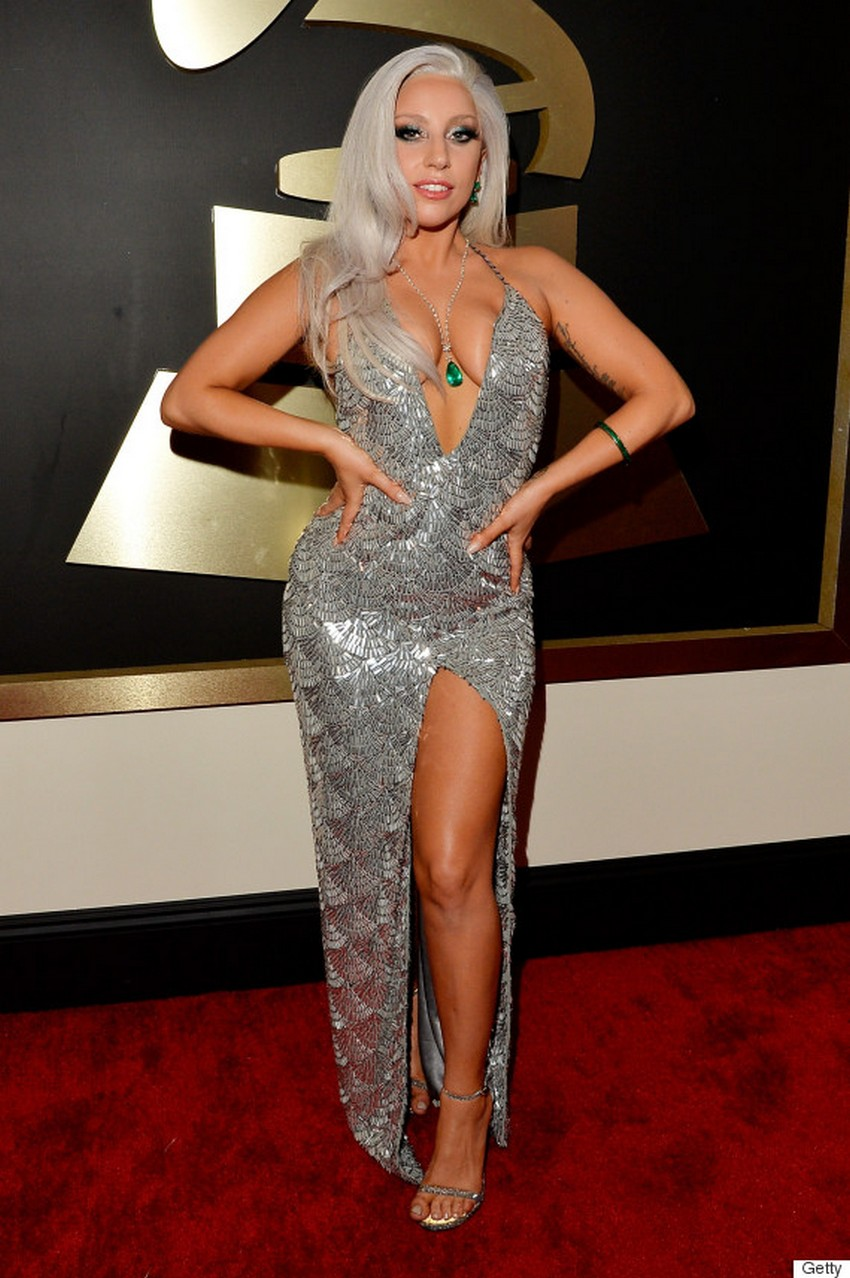 10. Lady Gaga | Best Dressed Celebrities at the 2015 Grammys | Image Source: http://i.huffpost.com/