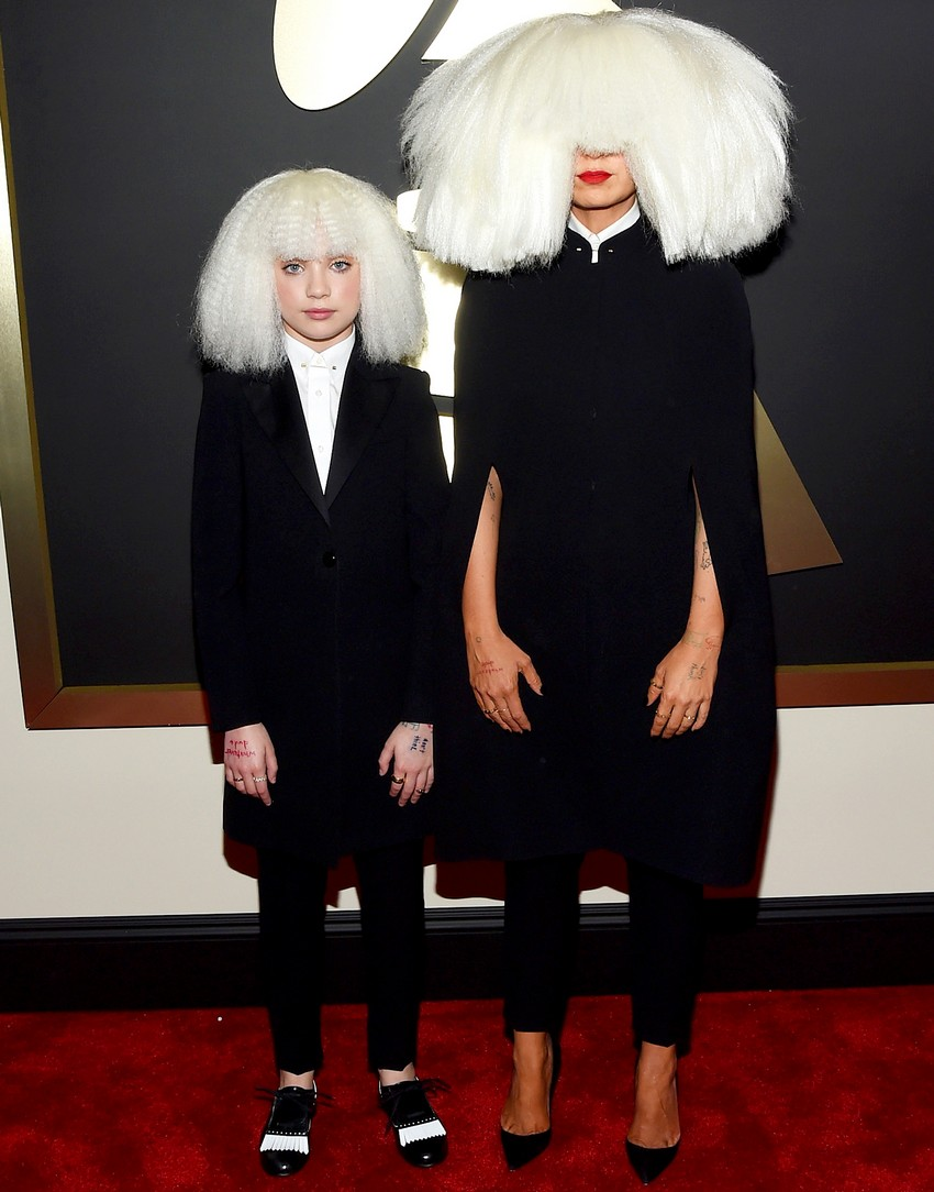 14. Sia | Best Dressed Celebrities at the 2015 Grammys | Image Source: http://www.usmagazine.com/