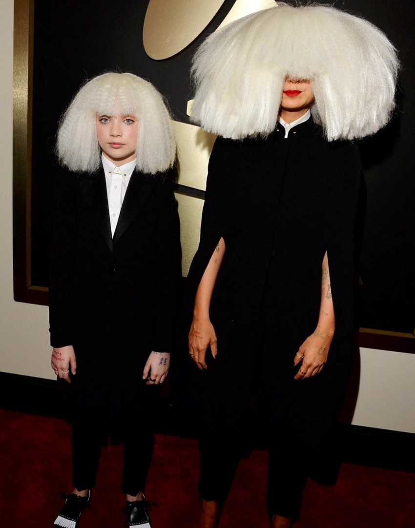 14. Sia | Best Dressed Celebrities at the 2015 Grammys | Image Source: http://assets.nydailynews.com/