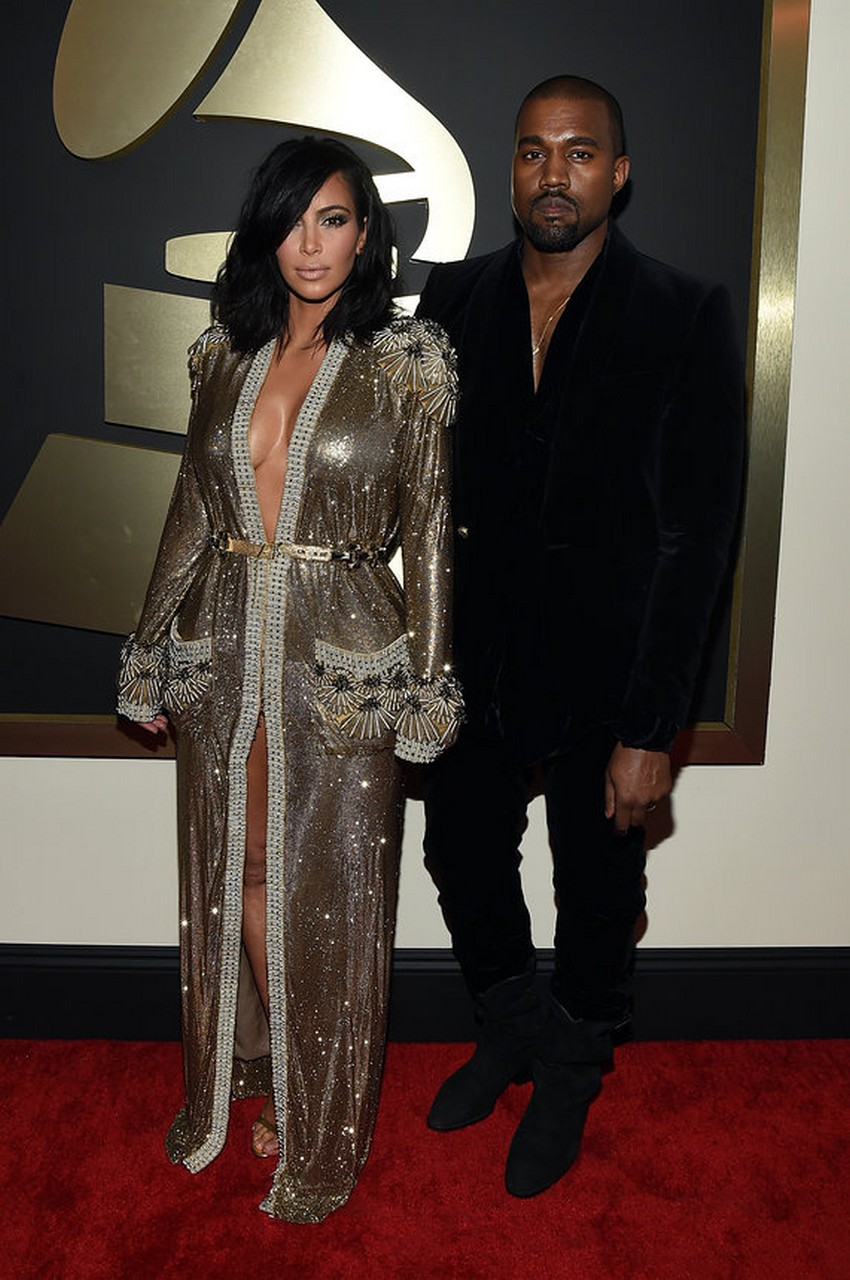 2. Kim Kardashian West | Best Dressed Celebrities at the 2015 Grammys | Image Source: http://www.vogue.com/