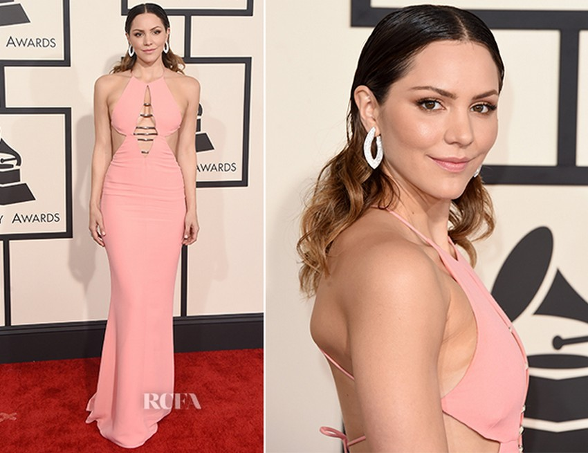 17. Katharine McPhee | Best Dressed Celebrities at the 2015 Grammys | Image Source: http://www.redcarpet-fashionawards.com/