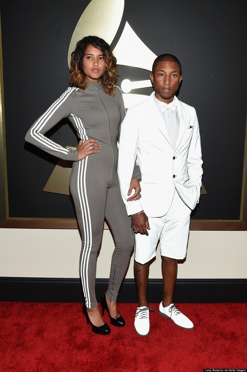 18. Pharrell | Best Dressed Celebrities at the 2015 Grammys | Image Source: http://i.huffpost.com/