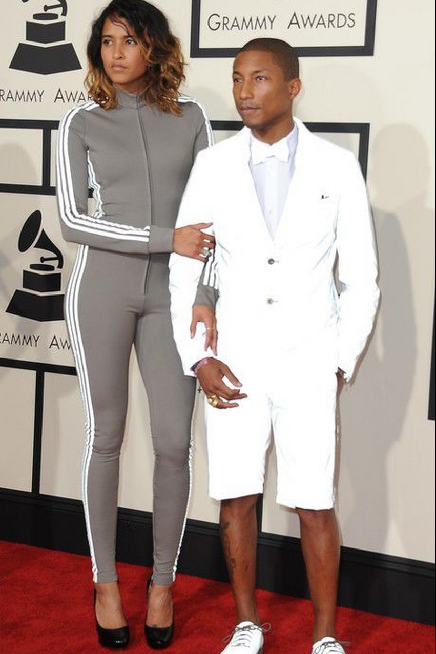 18. Pharrell | Best Dressed Celebrities at the 2015 Grammys | Image Source: http://www.elle.pl/