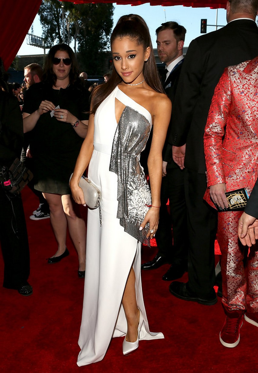 3. Ariana Grande | Best Dressed Celebrities at the 2015 Grammys | Image Source: http://www.vogue.com/