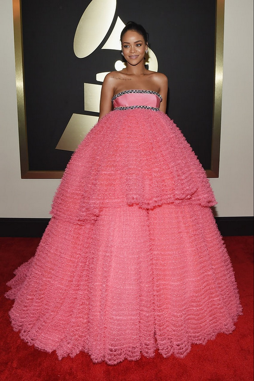 5. Rihanna | Best Dressed Celebrities at the 2015 Grammys | Image Source: http://www.vogue.com/