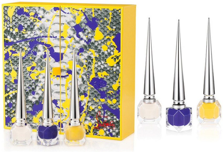 Christian Louboutin's Luxe Python Vulcano Nail Color Coffret | Image Source: luxatic.com