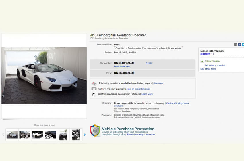 Dan Bilzerian's Lamborghini Aventador is On Sale on eBay