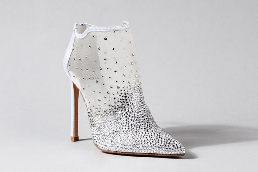 Stuart Weitzman | Designers Reinvent Cinderella's Glass Slipper | Image Source: www.vogue.co.uk