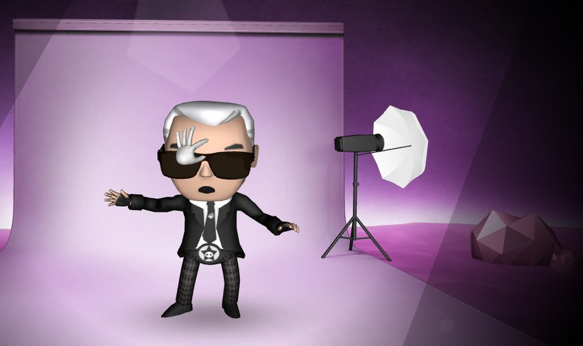 Karl Lagerfeld and Choupette as Cartoons in New Collection | Image Source: ocdn.eu