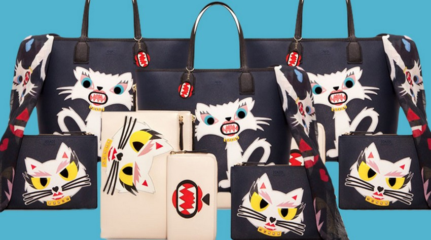 Karl Lagerfeld and Choupette as Cartoons in New Collection | Image Source: www.giomori.it