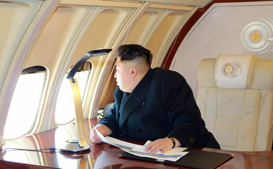 inside kim jong un s luxury private jet ealuxe com. Black Bedroom Furniture Sets. Home Design Ideas
