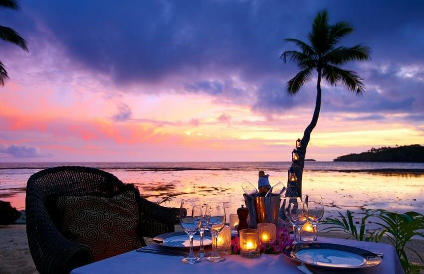 You Will Want to Check-in at Fiji's Top Rated Resort | Romantic Private Dinner on the Beach