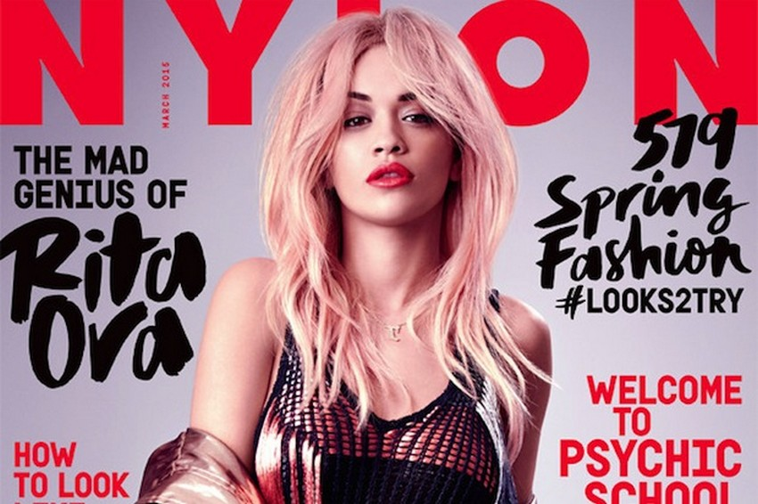 Nylon's March Issue Reveals Rita Ora With Pink Hair | Image Source: static.idolator.com