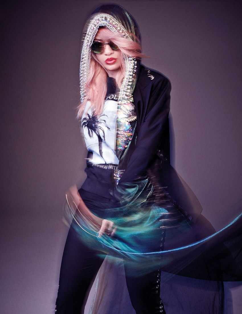 Nylon's March Issue Reveals Rita Ora With Pink Hair | Image Source: thatgrapejuice.net