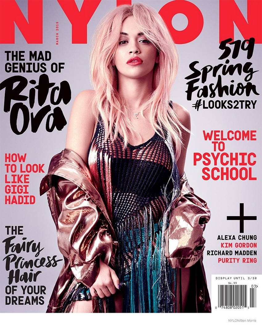 Nylon's March Issue Reveals Rita Ora With Pink Hair | Image Source: www.fashiongonerogue.com
