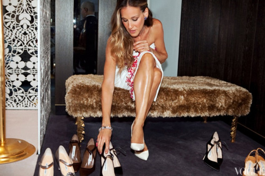 Sarah Jessica Parker Designs Shoes for Tome | Image Source: http://www.chaos-mag.com/