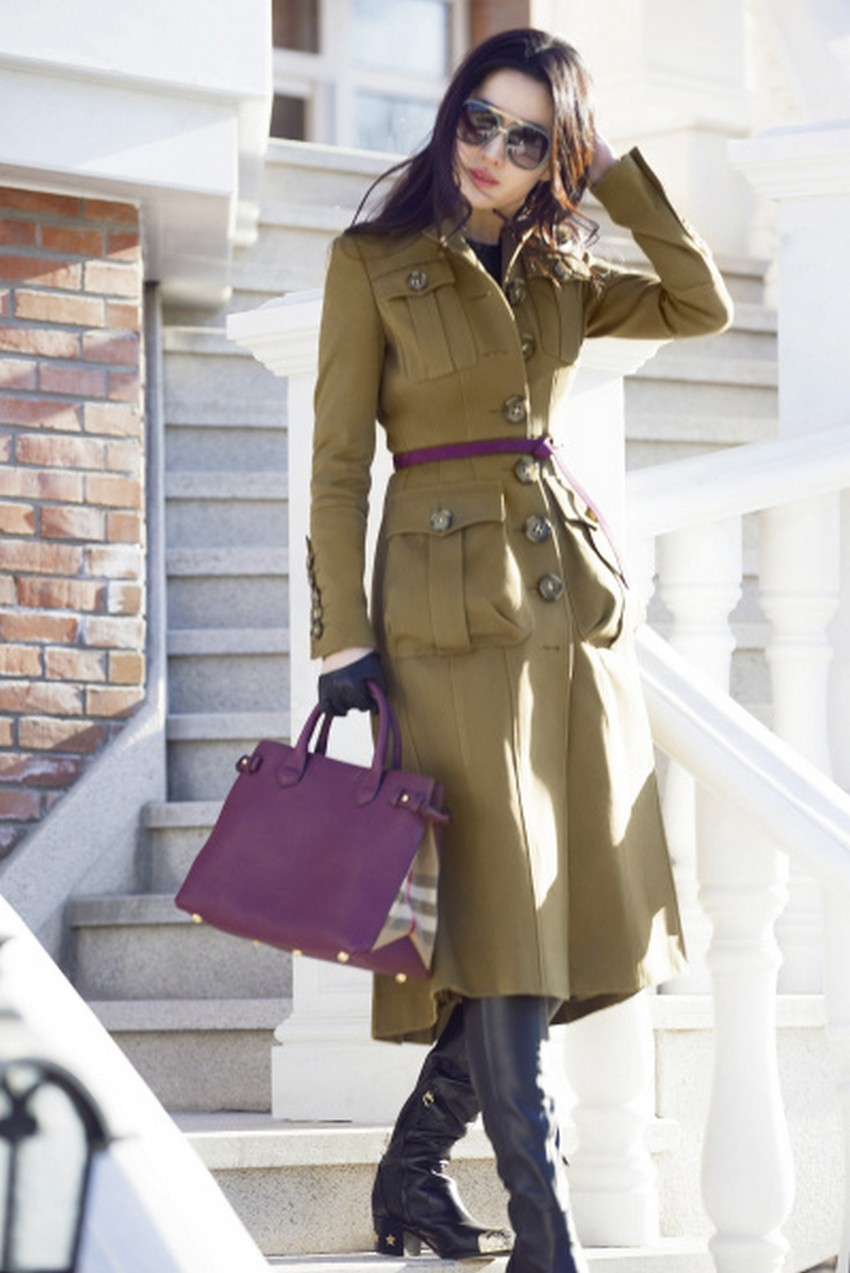 Celebrity Burberry Trench Coat - Tradingbasis
