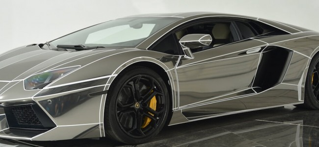 This Tron-Inspired Chrome Lamborghini Aventador is Up For Sale