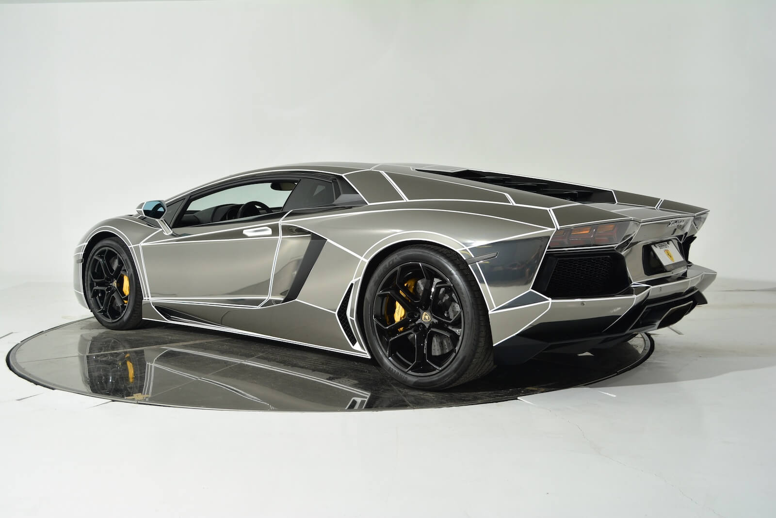 tron inspired chrome lamborghini aventador is on sale. Black Bedroom Furniture Sets. Home Design Ideas