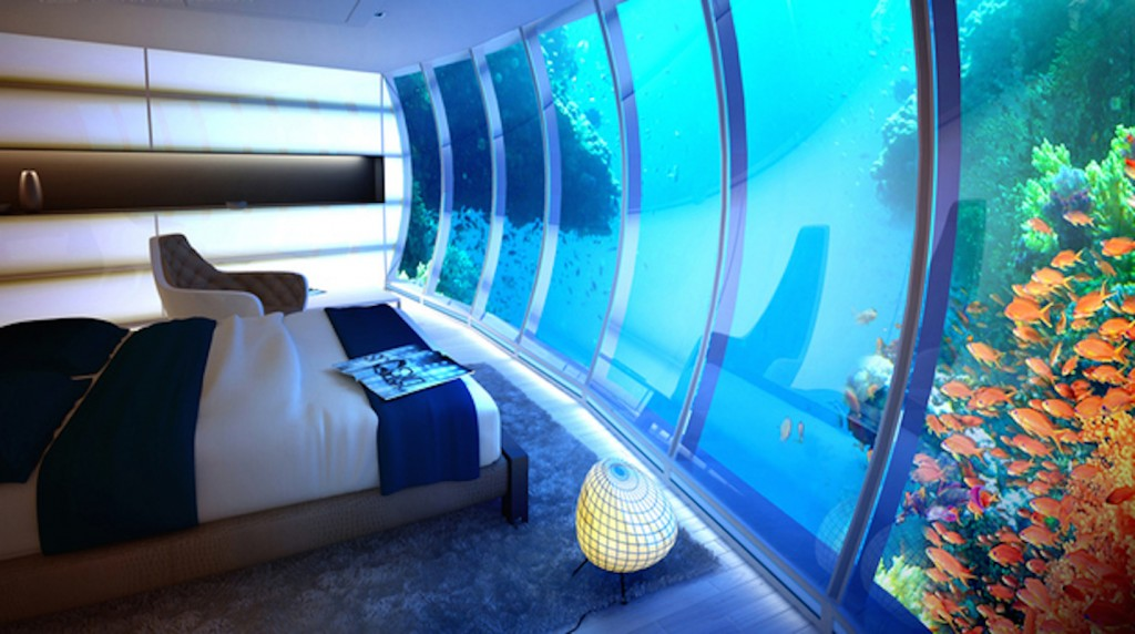 Maldives underwater bedroom via touch-arts.com