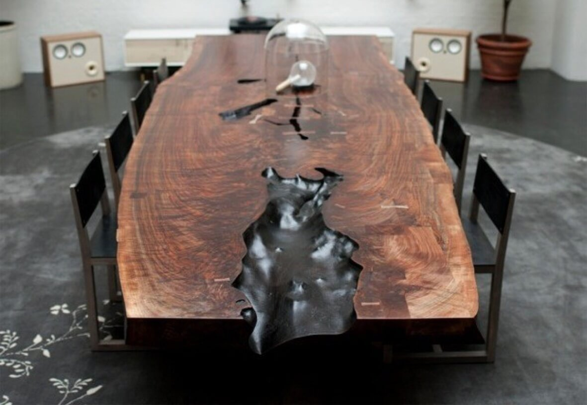 #5 The Slab Table  | Most Expensive Dining Tables | Top 10 | Image Source: houzz.com