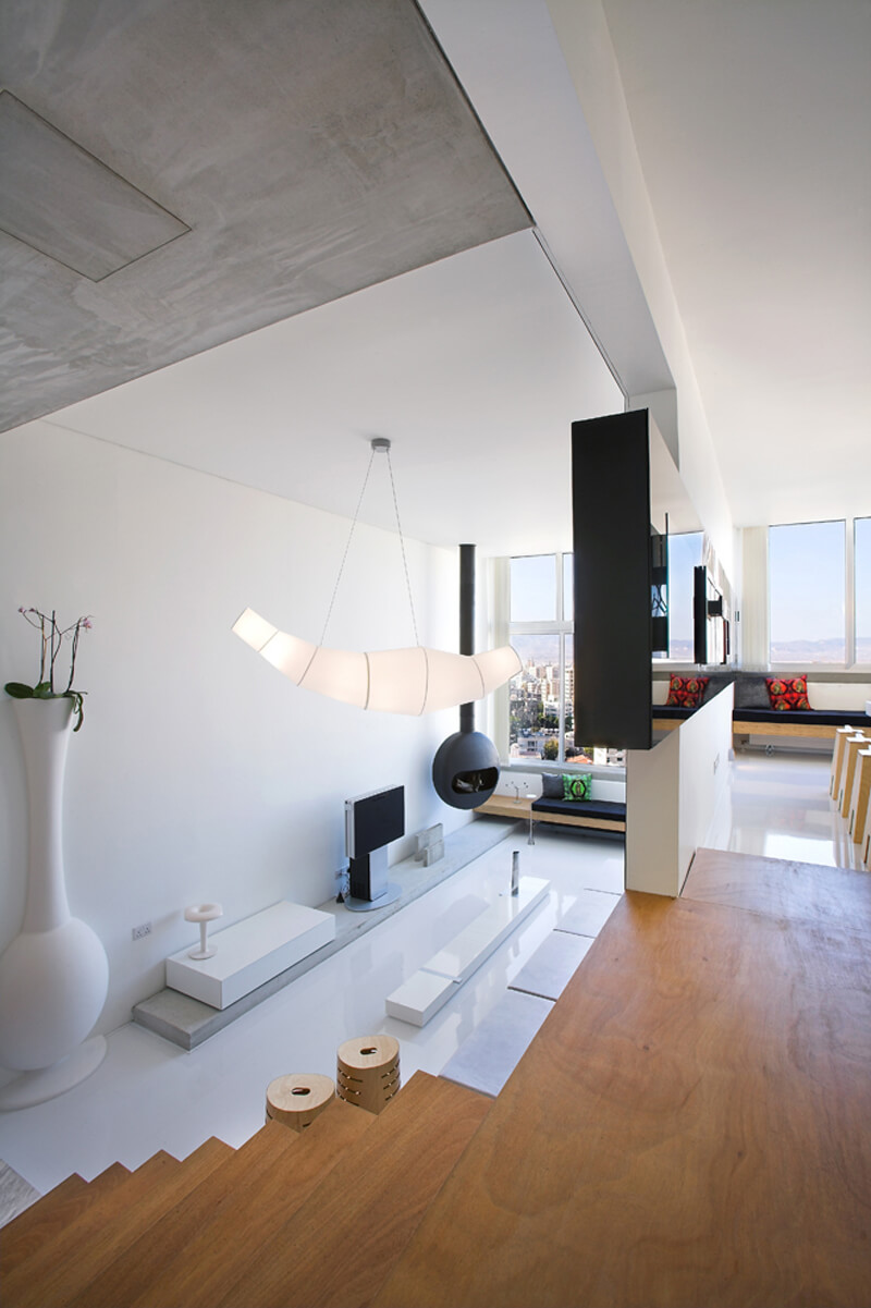 Mob interior architects split level apartment ealuxe 2