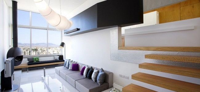 The MOB Interior Architects Designed A Split Level Apartment in Nicosia