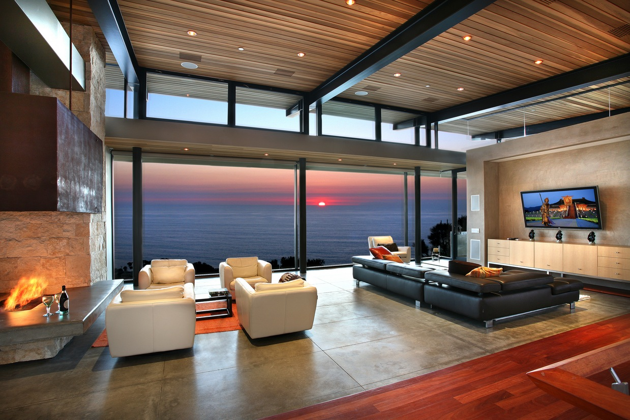 luxurious living room designs with stunning views