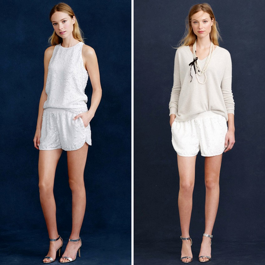 Wedding Shorts Are the Latest Bridal Trend this Year! | Image Source: scstylecaster.files.wordpress.com