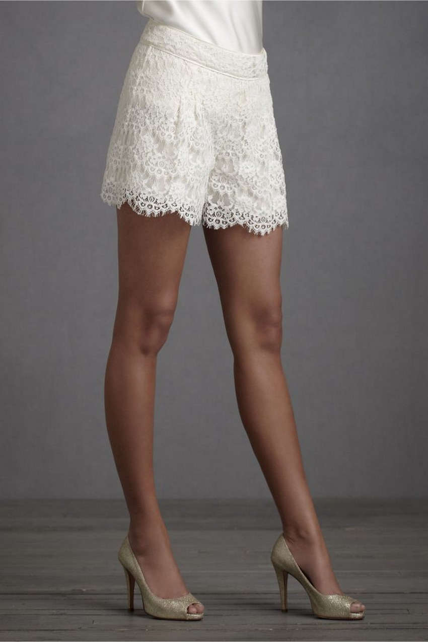 Wedding Shorts Are the Latest Bridal Trend this Year! | Image Source: www.onewed.com