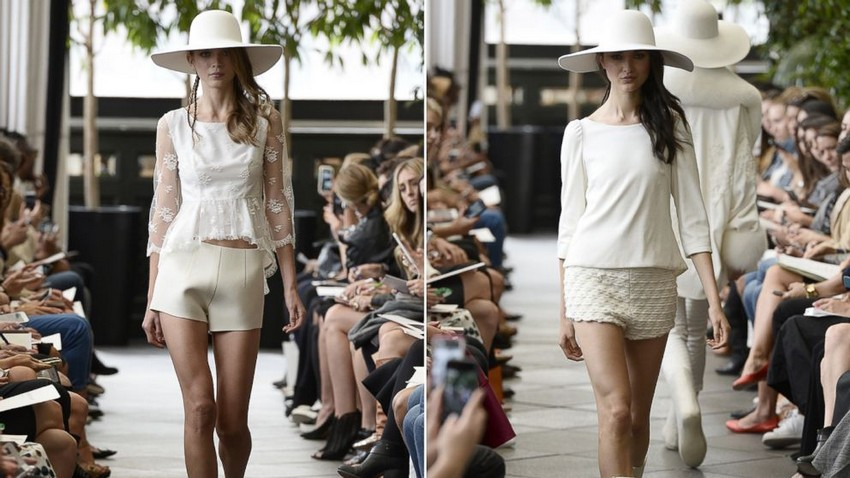 Wedding Shorts Are the Latest Bridal Trend this Year! | Image Source: a.abcnews.com