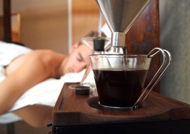 This Alarm Clock Wakes You With Freshly Brewed Coffee