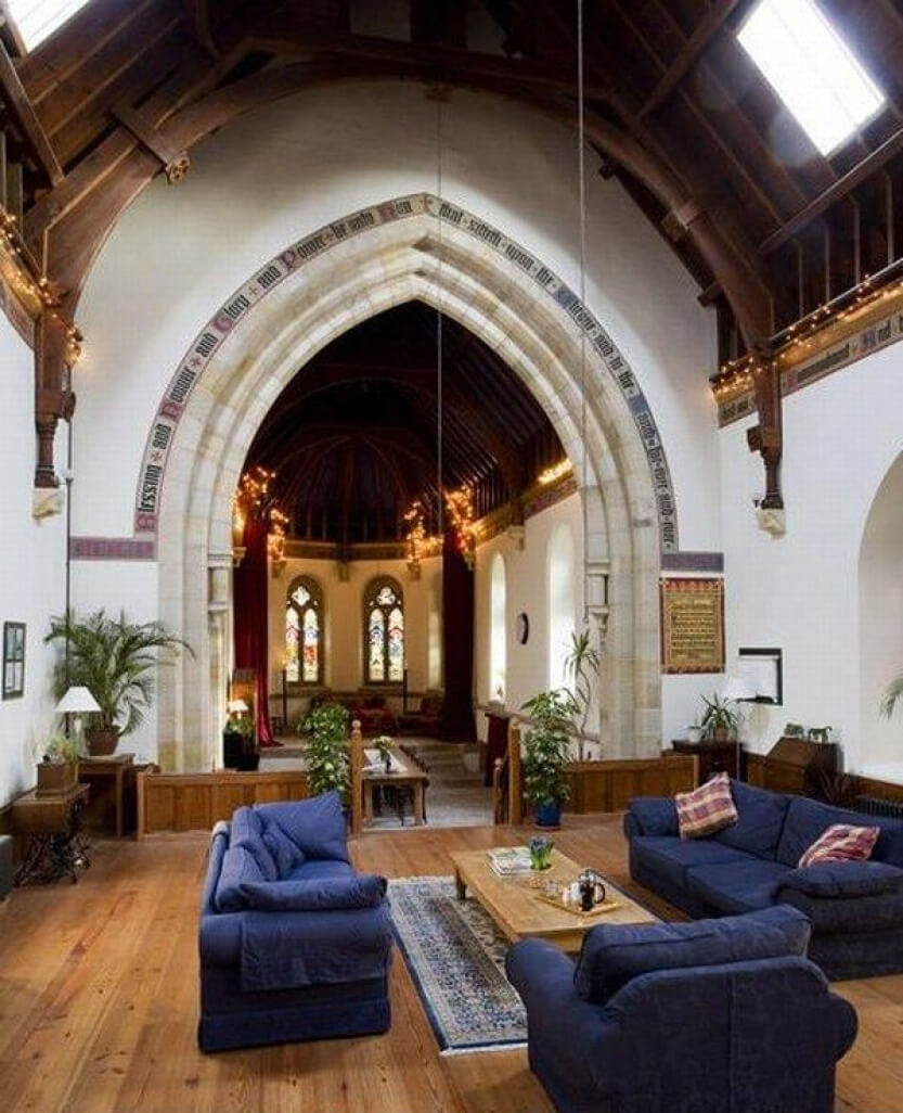 #10 Converted Georgian Church | Churches Converted Into Luxury Homes | Image Source: freshome.com