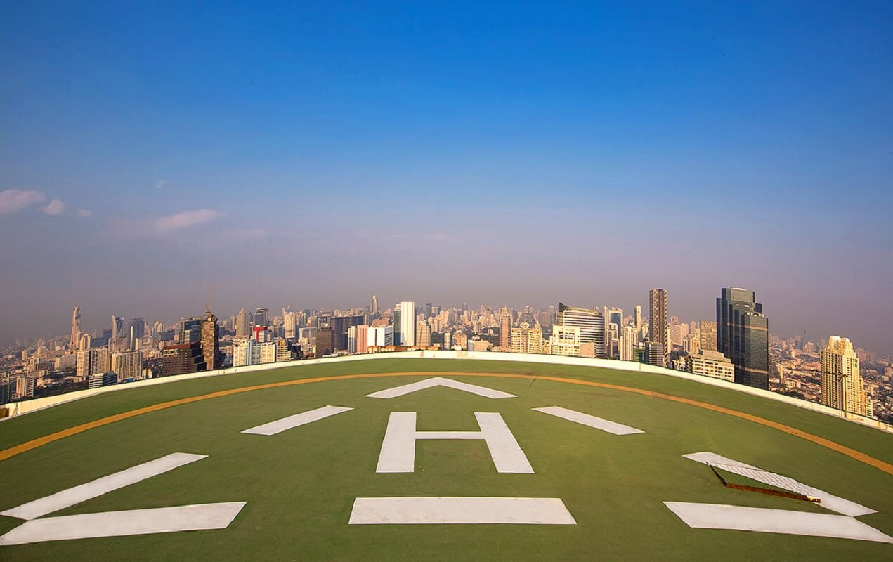 #10 Helicopter Transfer Form The Airport |  Luxury Things To Do In Bangkok | Image Source: bangkok.com