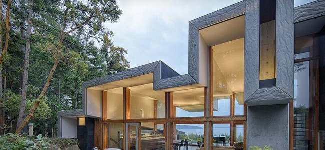 The Ridge House Is A Residence In Canada That Offers A Different Kind Of Roof Design