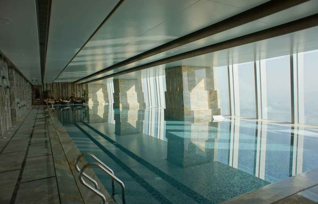 indoor infinity pool. #4 Infinity Indoor Pool At St. Regis Shenzhen   Highest Pools In The World