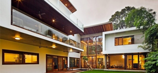 The Bhuwalka House From India Is A Remarkable Luxury Home With Double Height Windows