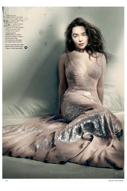 Emilia Clarke Covers Vogue and Channels Her Daenerys Character