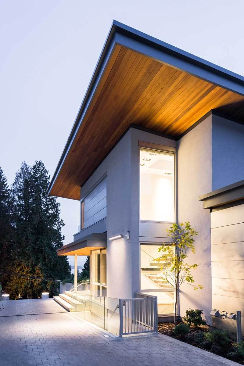 Mathers Avenue Residence Features A Butterfly Roof  2