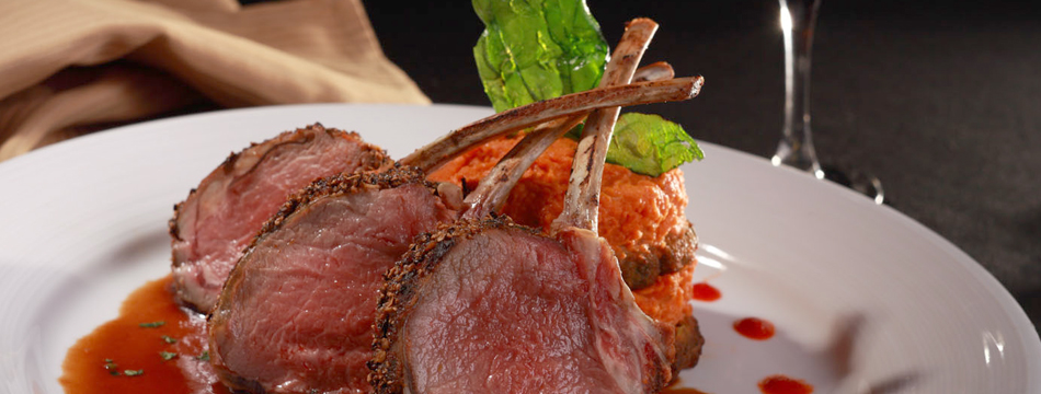 DINING AMONG GODS – TOP OF THE WORLD RESTAURANT – LAS VEGAS; Colorado Rack of Lamb with Moroccan Spices