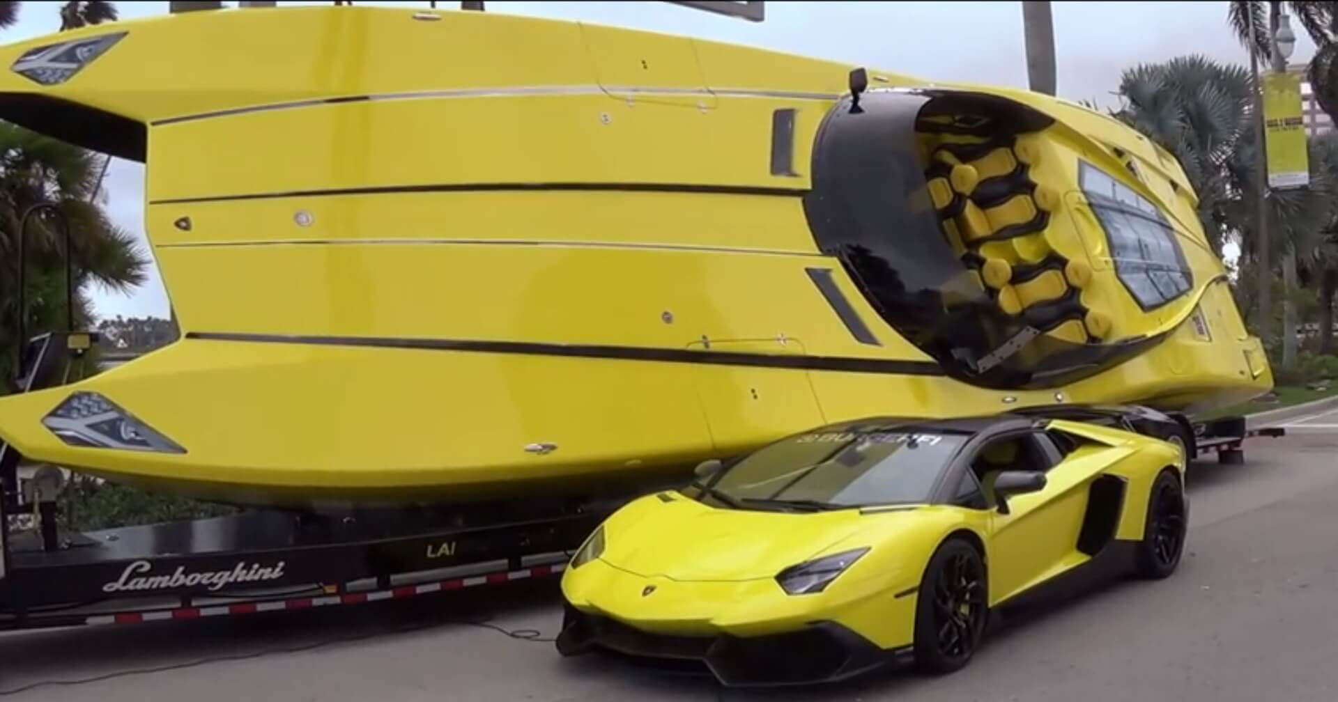 Things you didn't know about Lamborghini; Aventador Boat