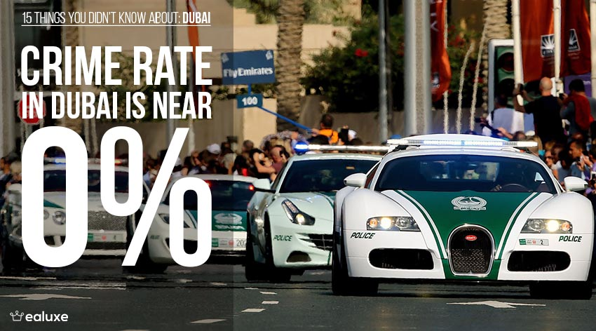 15 things you didn't know about dubai crime rate police cars facts ealuxe