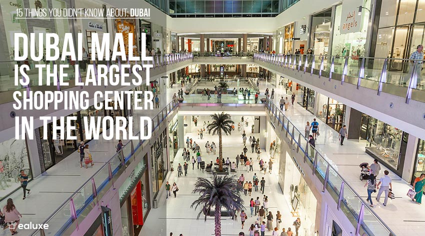 15 things you didn't know about dubai dubai mall largest shopping center in the world facts ealuxe