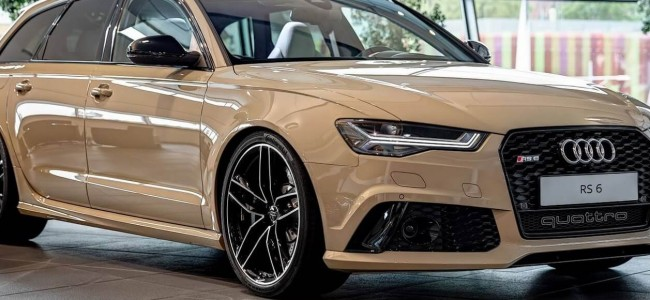 "Audi RS6 Is The First Car With New Exclusive ""Mocha Latte"" Paint Finish"