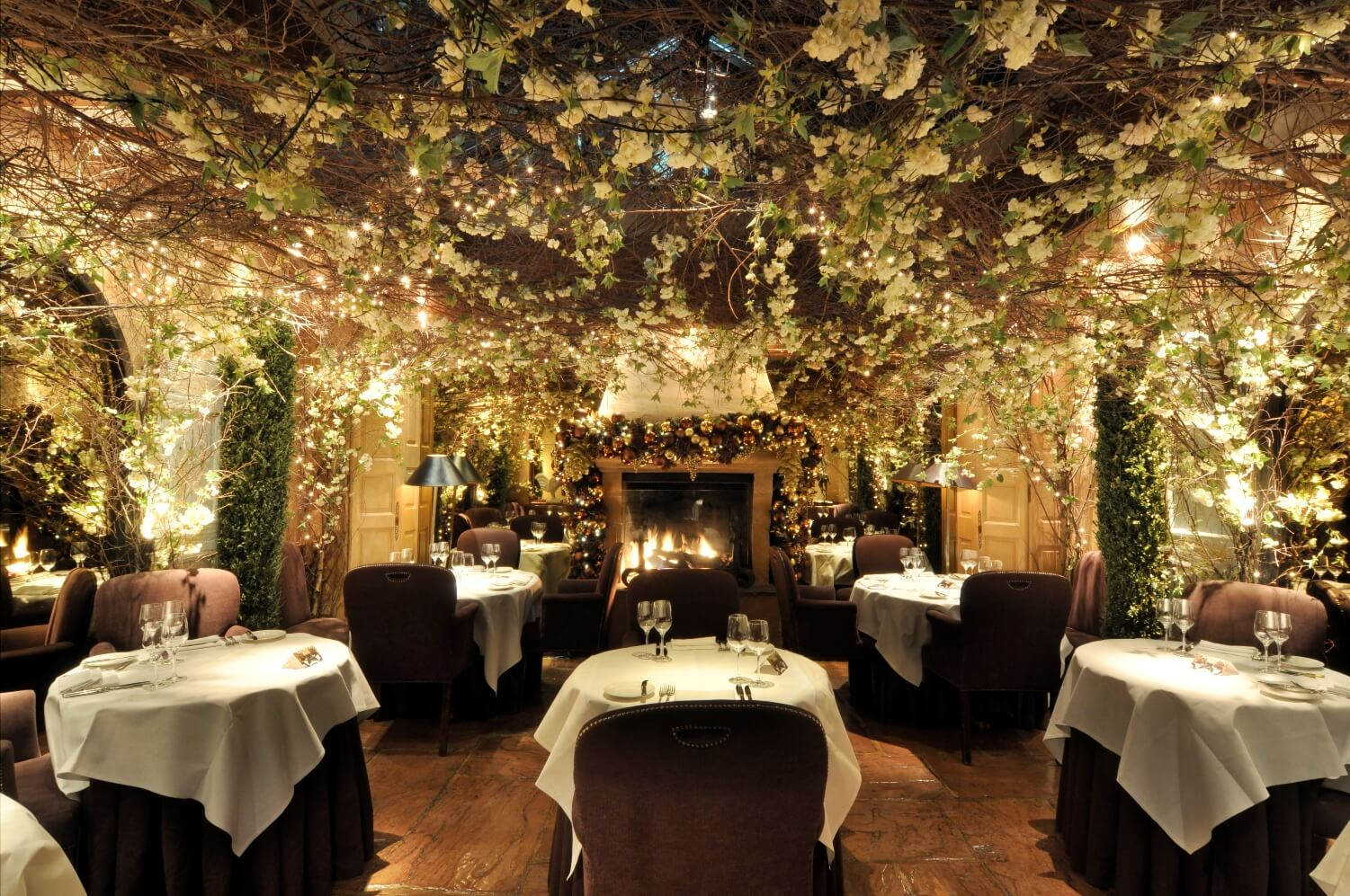 Most romantic restaurants in London; Clos Maggiore dining room