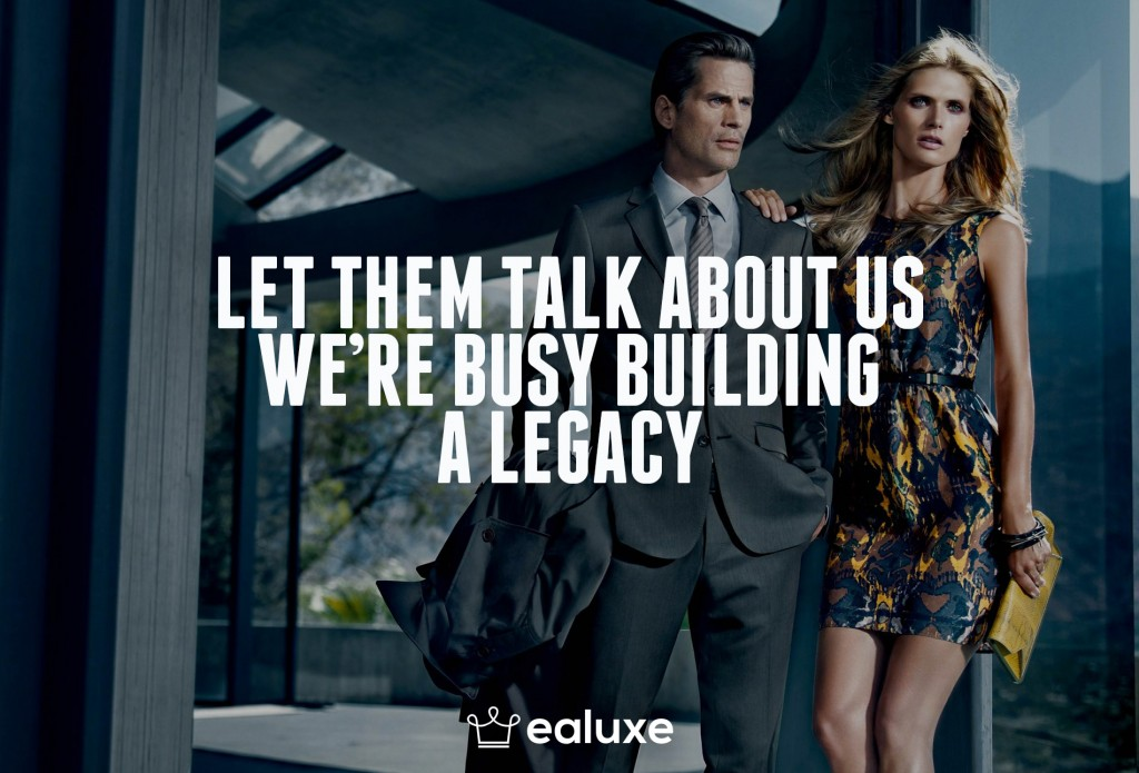 Ealuxe 100 quotes on motivation success overcoming obstacles and life get inspired (16) Let them talk about us, we're busy building a legacy!