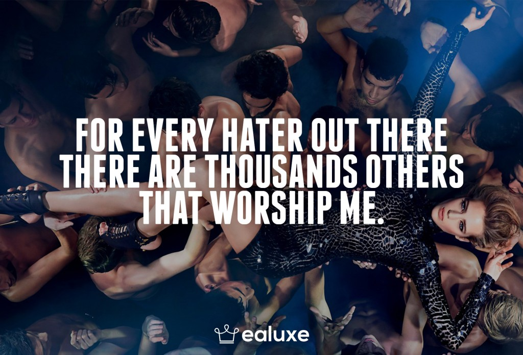 Ealuxe 100 quotes on motivation success overcoming obstacles and life get inspired (18) For every hater out there, there are thousands others that worship you!
